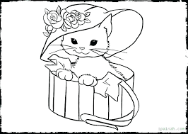 Kitten Coloring Pictures Idrakinfo