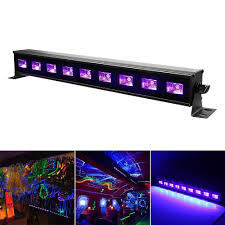 110 Volt Light Bar Uv Light Purple 9 Leds 27 W Wall Light Water Proof Stage
