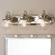 traditional bathroom lighting fixtures. traditional clear glass globe bath light 3 bathroom lighting fixtures e