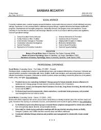 Resume Format For Social Worker 12 Work Examples 9 Msw Sample