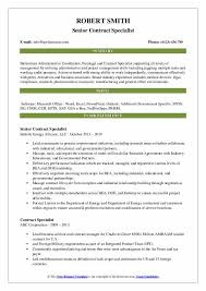 contract compliance resume contract specialist resume samples qwikresume