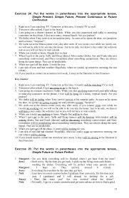 Verb tense exercises+answer, 080912