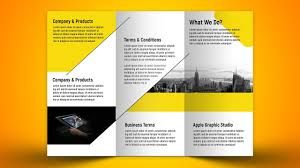 make tri fold brochures make a business tri fold brochure in photoshop cc