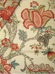 decor linen fabric multiuse: p kaufmann fabric traditional floral jacobean print multi purpose decorator fabric repeat v x h made in usa wide