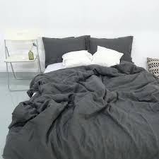 dark grey bedding. Decorative Cute Dark Gray Comforter 39 Grey Bedding Sets Charcoal Stone Washed Linen Duvet Cover Set