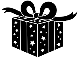 birthday present clip art black and white. Delighful Art Presents Png File  Black And White Party Gift  Free Clip Art  In Birthday Present And C