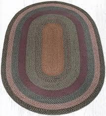 c 043 burdy blue gray oval braided rug 6x9 c 043