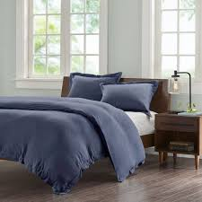 ink ivy jersey duvet cover full queen size navy solid color duvet cover set 3 piece 100 cotton light weight bed comforter covers souq uae