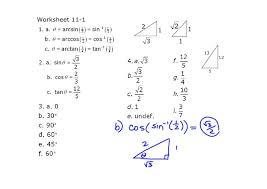solving trig equations worksheet 111