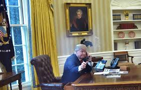 oval office wallpaper. Trump Official Praises Oval Office Makeover Blames Obama For Wallpaper Stains Vanity Fair