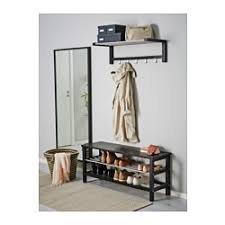 Shoe Coat And Hat Racks TJUSIG Bench with shoe storage black IKEA 33