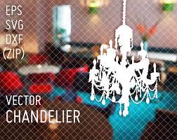 Chandelier Vintage Vector Eps Svg Dxf Zip Kronleuchter Feier Feierlich Decoration