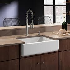 kohler white haven undermount cast iron 32 6875 in single bowl kitchen sink with