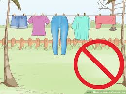 How To Make A Clothesline Custom How To Make A Clothes Line With Pictures WikiHow