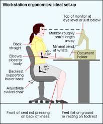 ergonomic desk height measurements google search
