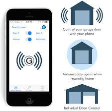 open garage door with phoneGarage Beacon  Turn your phone into a garage door remote by Randy