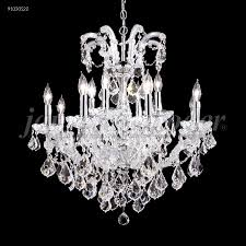 maria theresa grand 12 light crystal chandelier in silver with swarovski crystal clear