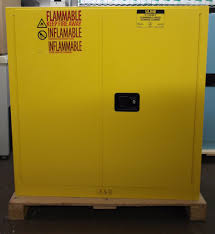 Yellow Flammable Cabinet Uline Flammable Storage Cabinet Manual Doors Yellow 30 Gallon