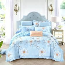 bright colored spring fl cherry blossoms bedding sets queen king size cotton linen cool summer duvet