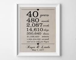 gifts favors personalised 40th wedding anniversary gifts for pas australia present ideas gift my