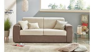Divano letto contenitore ecopelle bianco hugo'reclinabile con cuscini. Divano Letto 3 Posti Dory Conforama