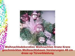 Weihnachtsdekoration Weihnachten Kranz Kranz Geschmückten Weihnachtsbaum Verzierungen 40