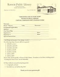 Pledge Form | Kasson Public Library