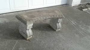 concrete garden bench. Concrete Garden Bench H