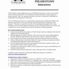 Phlebotomyesume Sample Templates Examples Samples For New Grads