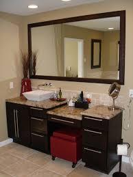 Bathroom Framed Mirrors Bathroom Single Bathroom Vanity With Makeup Table Under Framed