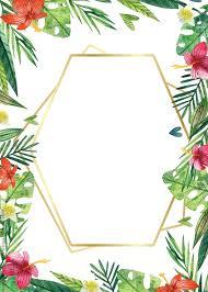 Free Printable Floral Tropical Hawaiian Invitation Templates