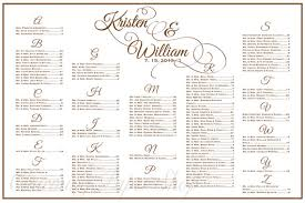 seating chart for wedding reception wedding seating chart table seating assignments reception