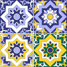 mexican ceramic tile collection of 4 ceramic tiles seamless tiled pattern tiles mexican terracotta floor tiles
