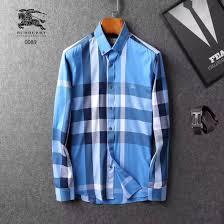 Burberry Light Blue Burberry Men Shirt Blue Light Blue Color