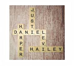 Scrabble Letter Wall Decor Details About X Large Wood Scrabble Letter Tiles Wall Art Hanging
