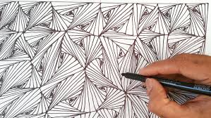 How To Draw Patterns Custom How To Draw Easy Line Optical Illusions Pattern Zentangles