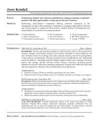 Receptionist Resume Qualification Http Jobresumesample Com 430