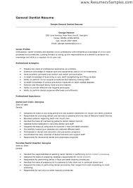 Dentist Resume Techtrontechnologies Com