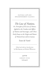 the law of nations or principles of the law of nature applied  vattel1519 tp