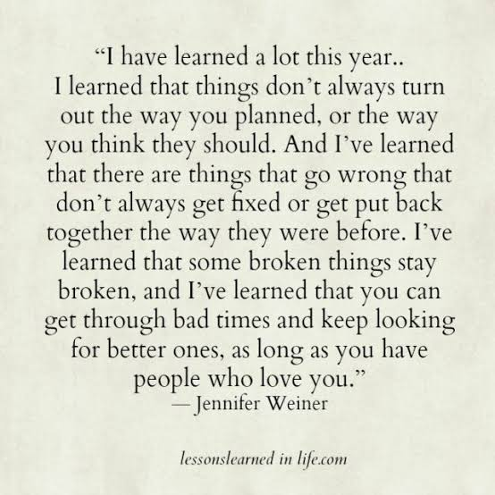 quotes on life lessons learned