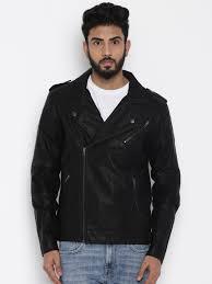 flying machine black biker jacket image