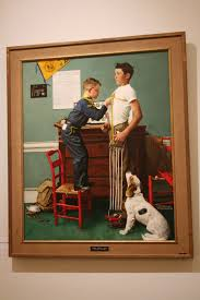 and seeing paintings by norman rockwell was a thrill to me these paintings were ones mr rockwell had done for the boy scouts of america