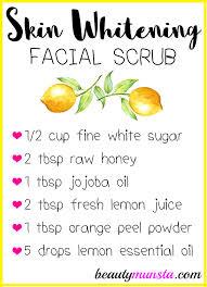 skin whitening face scrub recipe