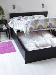 Ikea malm storage bed Build In Nightstand The Malm Storage Bed Gives You Extra Storage Space For Clothes Shoes And Extra Bedding And Makes It Easy To Access Too All You Have To Do Is Lift Up Pinterest The Malm Storage Bed Gives You Extra Storage Space For Clothes