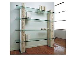 glass shelves bookcase white stone with bookshelves ikea