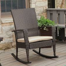 image of small patio rocking chair
