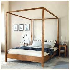 Wood Canopy Bed Frame Canopy Queen Elegant Beds Mesmerizing Wood Bed ...