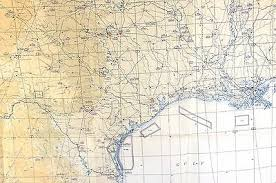 Mexico Navigation Charts 1955 Jet Navigation Chart Jn 46 Rio Grande Mexico