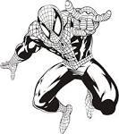 Человек паук раскраска видео