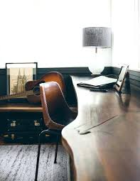 home office decor pinterest. Pinterest Office Decor Home Organic Edge Desk Leather Chair With Contrast Stitching Christmas